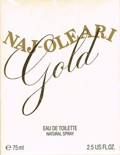 NAJ OLEARI GOLD PROFUMO Donna 75 ml EDT natural spray RARE CodeBar:8011003042326