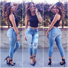 I love pretty thick ladies in sexy jeans and heels.
