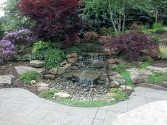 Small Waterfall Pond Landscaping For Backyard Decor Ideas 66 - DecOMG Backyard Water Feature, Ponds Backyard, Backyard Waterfalls, Backyard Ideas, Garden Ideas, Backyard Gazebo, Pond Ideas, Outdoor Ideas, Outdoor Decor