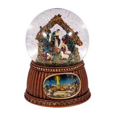 Christmas Nativity 100MM Musical Snow Globe Glitterdome - Plays Tune O'Holy Night * UNBELIEVABLE! Click the Pin to view this limited deal : Snow Globes