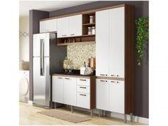 Cozinha Compacta Multimóveis Itália com Balcão - Nicho para Forno 9 Portas 3 Gavetas
