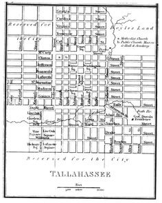 Plan of the City of Tallahassee, Florida, 1824