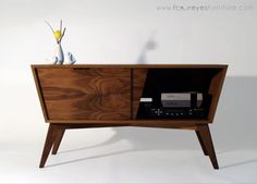 Designing & Building a Mid-Century Inspired Console