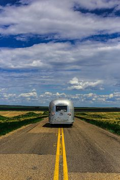 little airstream on the prairie | glamping + rvs and campers #adventure