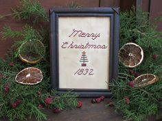 Merry Christmas...designed & stitched by Yesterday Once More Primitives