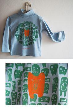 T-shirt I like monsters   Bonkiettina