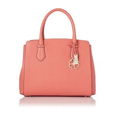 Catrina Coral Saffiano Leather Tote ($495) ❤ liked on Polyvore featuring bags, handbags, tote bags, saffiano leather tote, tote bag purse, top handle handbags, tote handbags and structured tote