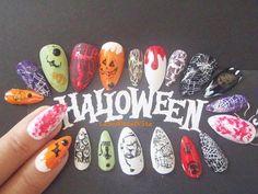haloween fake nails halloween costume stiletto make up pointy