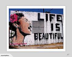 'Life Is Beautiful' by Banksy Art Print | Trade Me