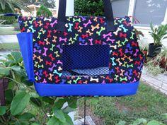 Large Dog carrier  Royal Blue by PoochandFelinePalace on Etsy, $45.00