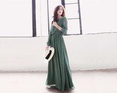 chiffon dress/long chiffon dress/chiffon dress by QandAfashion, $78.00