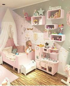 little girls room ideas pink and gray