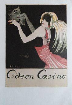 Vintage Dance Poster Neon Casino Europe Style Ballet by KingPaper on Etsy Casino Logo, Vintage Dance, Most Famous Artists, Europe Fashion, Casino Theme Parties, Baby Clothes Shops, Vintage Advertisements, Art History, Vintage Posters