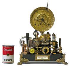Steampunk Shelf Clock by Roger Woods of Klockwerks