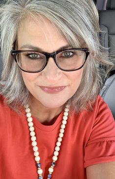 Grey Hair Over 50, Short Thin Hair, Short Grey Hair, Short Hair Cuts For Women, Curly Hair With Bangs, Curly Hair Styles, Grey Hair And Glasses, Grey Hair Transformation, Gray Hair Highlights