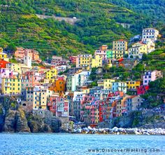 Hike the Cinque Terre in Italy on your next walking vacation.  Click for more pictures and video http://www.discoverwalking.com/blog/hiking-the-cinque-terre-in-italy.php