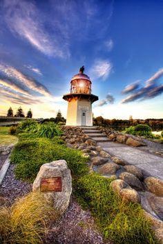 Portland Island Lighthouse, off the coast - Mahia Pen. The Beautiful Country, Beautiful Places, Nelson New Zealand, New Zealand Image, Lighthouse Lighting, Beacon Of Light, Australia, New Zealand Travel, South Island