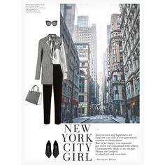 NEW YORK CITY GIRL by paint-it-black featuring Yves Saint Laurent, rag & bone, The Row, Prada, Linda Farrow and H&M