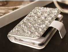 samsung galaxy s4 case  Bling note 2 S3 case - wallet leather gemstone crystal Samsung luxury galaxy S3 i9300 case cover, iphone 4 4s 5 5g on Etsy, $33.00