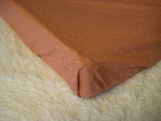 Changing Pad Cover- Coral Pink-Blush/White Confetti Tiny Polka Dots