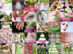 Pink and Green Wedding - http://partymotif.com