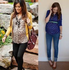 Leopard and mustard maternity outfit; almost makes me want to be pregnant.nah not really Maternity Wear, Maternity Fashion, Spring Maternity, Maternity Clothing, Lorie, Pin, Jeans Style, New Baby Products, Pregnancy