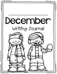 December writing journal. Prompts for the whole month.