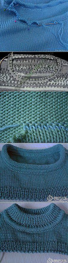 To je hrozné slovo roubování - mnoho způsobů, au Knitting Help, Knitting Videos, Loom Knitting, Knitting Stitches, Hand Knitting, Knit Edge, Crochet Collar, Modern Crochet, Crochet Yarn