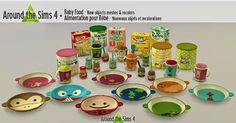 Decor: Baby Food from Around The Sims 4 Les Sims 4 Pc, Sims Four, My Sims, Sims 4 Mods, The Sims 4 Bebes, Around The Sims 4, Pelo Sims, Sims 4 Bedroom, Sims 4 Clutter