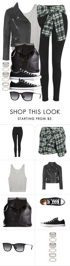 """""""Style #9676"""" by vany-alvarado ❤ liked on Polyvore featuring Topshop, Faith Connexion, Helmut Lang, Chanel, Converse, Ray-Ban and Forever 21"""