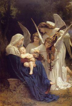Les chants des anges de William-Adolphe Bouguereau