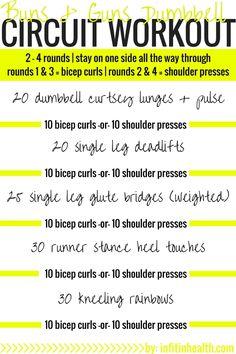 Buns & Guns Dumbbell Circuit Workout