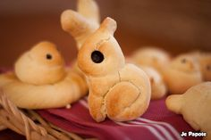 petits pains en forme d'animaux #bread #food #easter