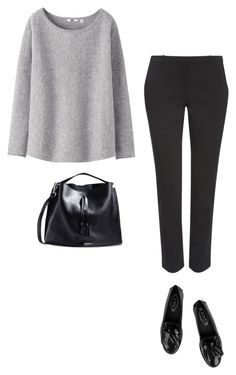 """MINIMAL + CLASSIC: """"Untitled #545"""" by feryfery ❤ liked on Polyvore featuring Uniqlo, Whistles, Tod's and Maison Margiela"""