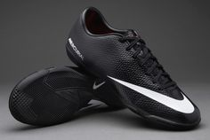 Nike Football Boots - Nike Mercurial Victory IV Indoor - Soccer Cleats -  Black-White e4bbb38993f93