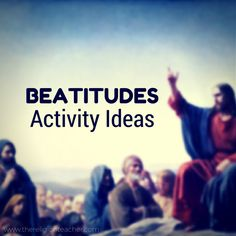 11 Beatitudes Activity Ideas & Printable Worksheets from @religionteacher