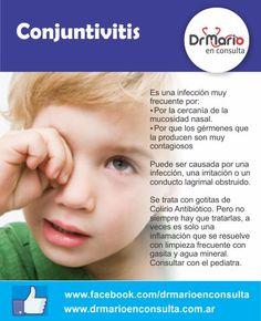 Conjuntivitis, ¿cómo tratarla? Ver más en: http://www.drmarioenconsulta.com.ar/?p=2996