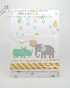 Gothdove Designs - Alison Barclay #stampinup #stampinupaustralia #ZooBabies #baby #card #CASEingTheCatty #inspirecreateshare2014