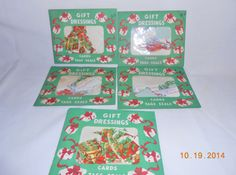 Vintage Christmas Seals and Tags Original by CountryMileCottage