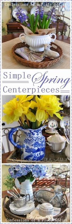 CONFESSIONS OF A PLATE ADDICT Simple Spring Centerpieces