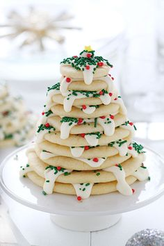 i am baker has christmas tree cookie stacks (and a giveaway!) at FoodBlogs.com