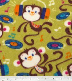 Anti Pill Fleece Print- Rockin Out Monkey# 12015400