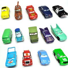 PURCHASED: 5cm 2inch Pixar Cars Lightning McQueen Movable Cars Set 14pcs New | eBay $10.69