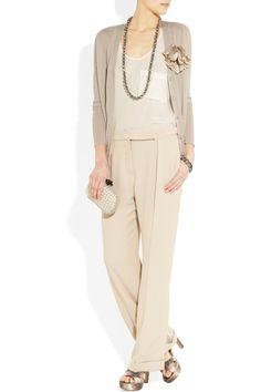 Lanvin|Flower-embellished cashmere cardigan|NET-A-PORTER.COM