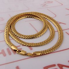 18k Gold Plated Fashion Chain Necklaces For Men Jewelry,Link Necklaces, Free shipping (N18K 64) -in Chain Necklaces from Jewelry on Aliexpress.com