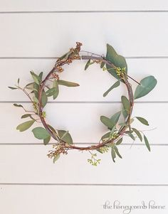 DIY Spring Wreath, seeded eucalyptus, easy spring decorating ideas.