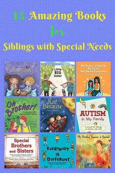 Books are great conversation starters or help kids develop self-awareness. More than 20 books that discuss having a disabled or special needs sibling. Parenting Books, Kids And Parenting, Parenting Tips, Peaceful Parenting, Gentle Parenting, Down Syndrome, Special Needs Kids, All Family, Lectures