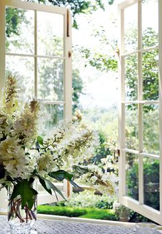 French Garden in a Southern Setting - Traditional Home®  Beautiful, beautiful  windows