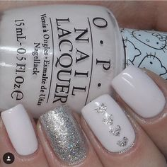 ✨I ❤️ this mani! @carlysisoka is the queen of the neutral manis!!!  - Heart Nail Stencil snailvinyls.com