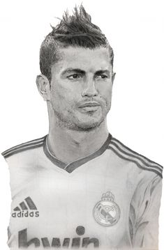 Stars captured by photorealist artist art dessins et - Dessin cristiano ronaldo ...